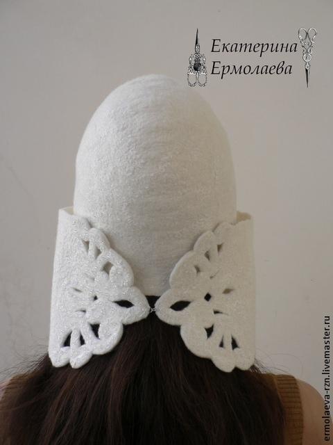 Валяем стильную шапку ушанку снежная
