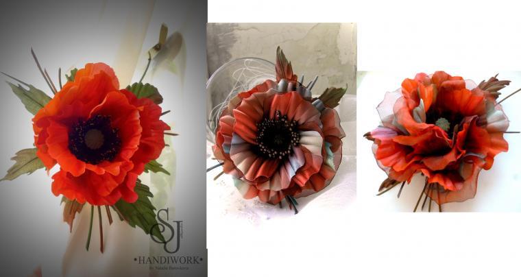 цветы из шелка, цветы своими руками
