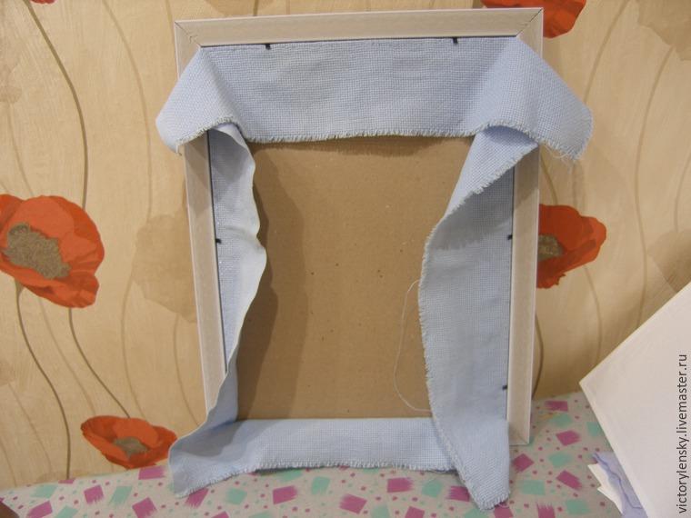 Оформление готовой вышивки в рамку, фото № 11
