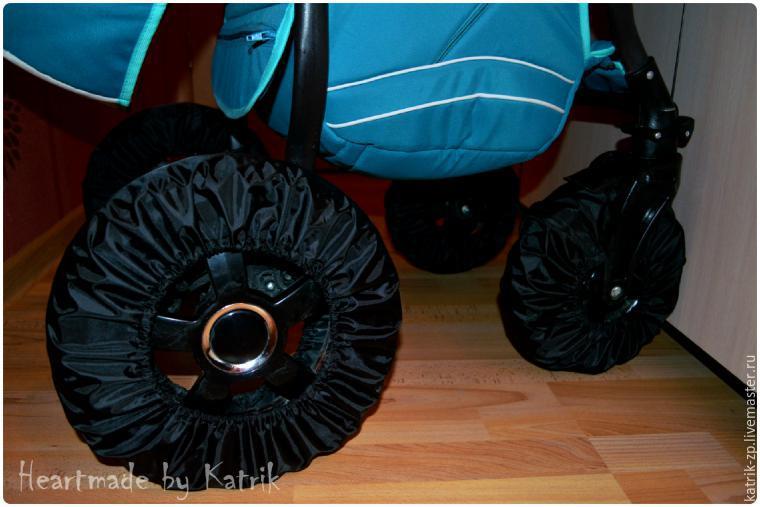 Сшить чехлы на колеса на коляску 27