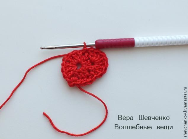 МК Вяжем сердечко - брелок (много фото), фото № 10