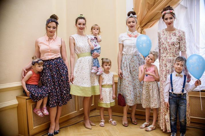 семейный, мода, летняя одежда, тренд сезона