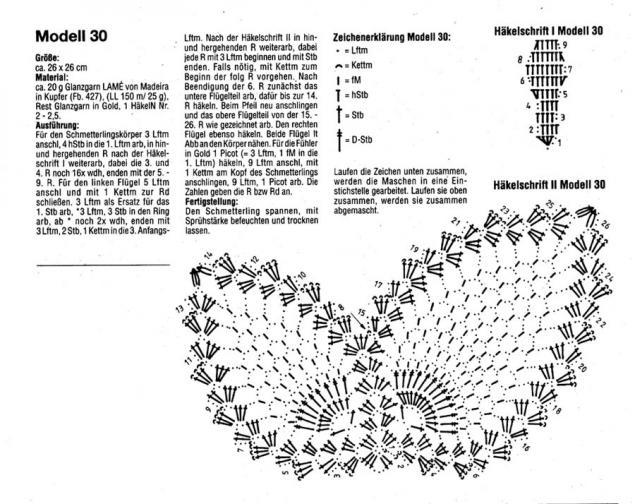 Коллекция схем для вязания крючком 30