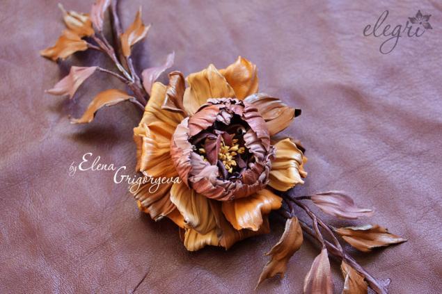 староанглийская роза, кожаная флористиа