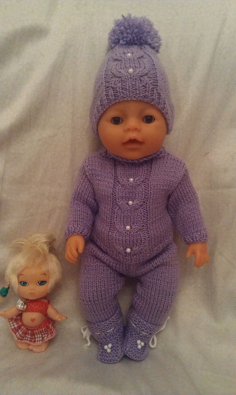 Вязание одежды для беби борн