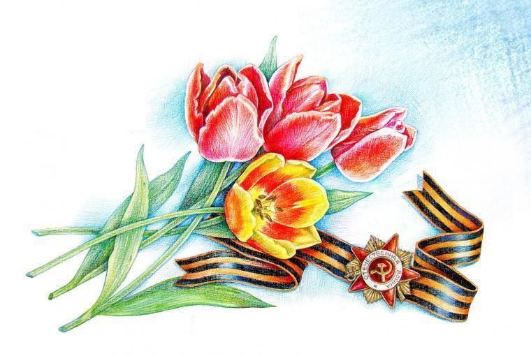 Как нарисовать с 9 мая открытку, февраля своими руками