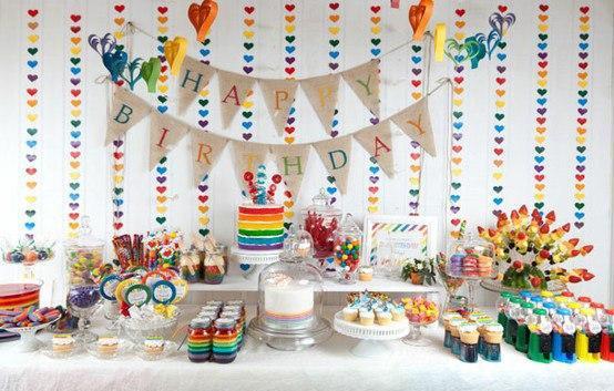 Своими руками украсить стол на детский день рождения