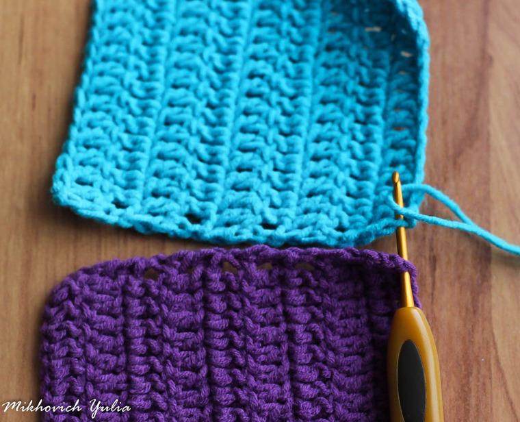 Соединение крючком вязаных полотен – Ярмарка Мастеров