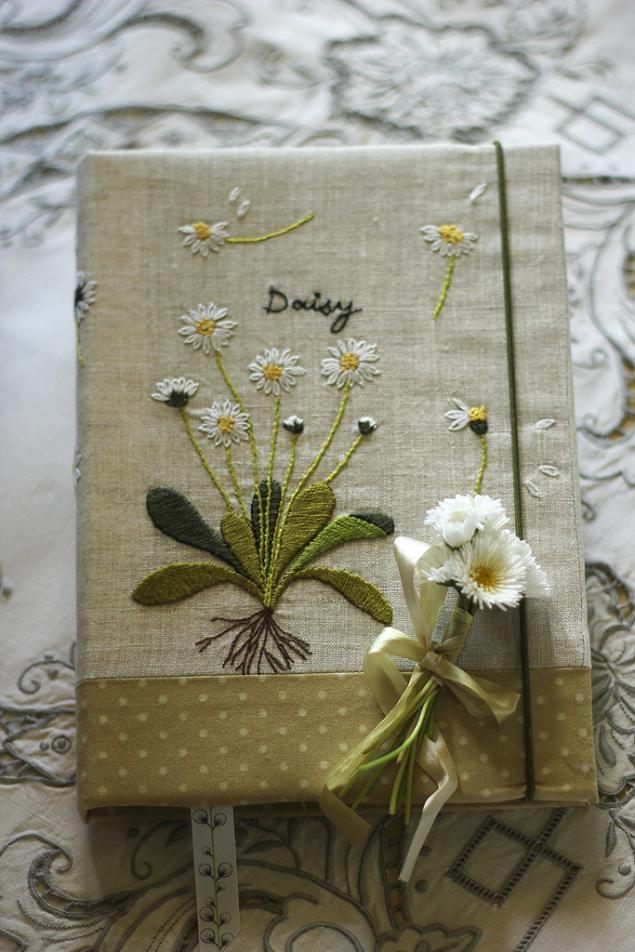 блокнот с вышивкой, личный дневник, свадебный подарок