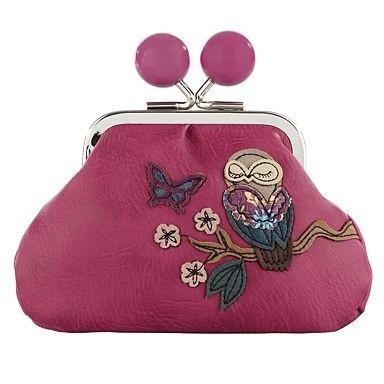 Pink appliqued owl coin purse - Purses - Handbags & purses - Women -