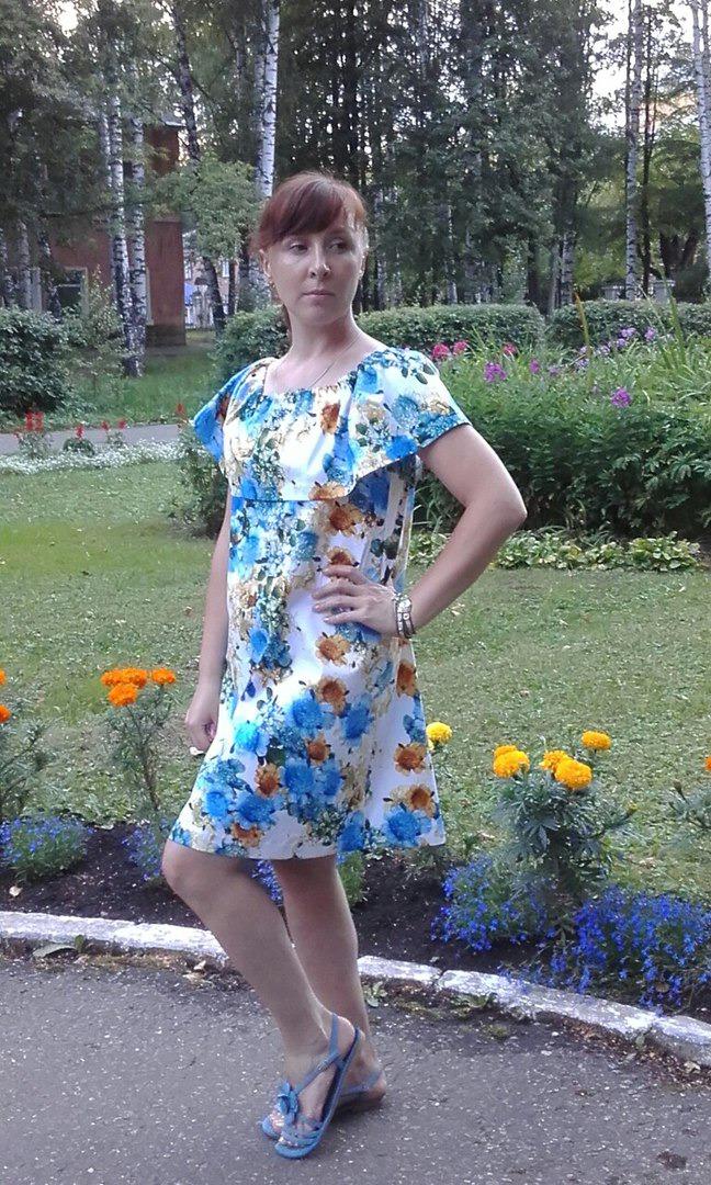 итальянский хлопок, летнее платье, платье с воланом, волан, лето