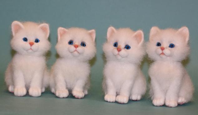 мастер-класс по валянию, мк по валянию, котята, войлочная игрушка