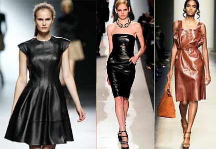 Кожаное платье фасоны