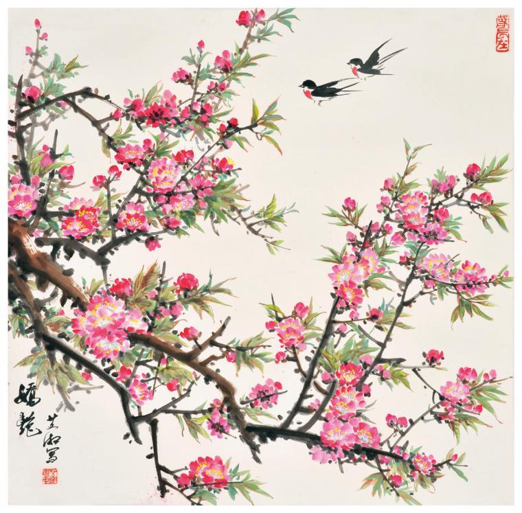 Японская живопись цветы и птицы как рисовать