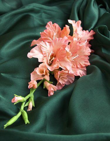 лепка цветов, полимерная глина