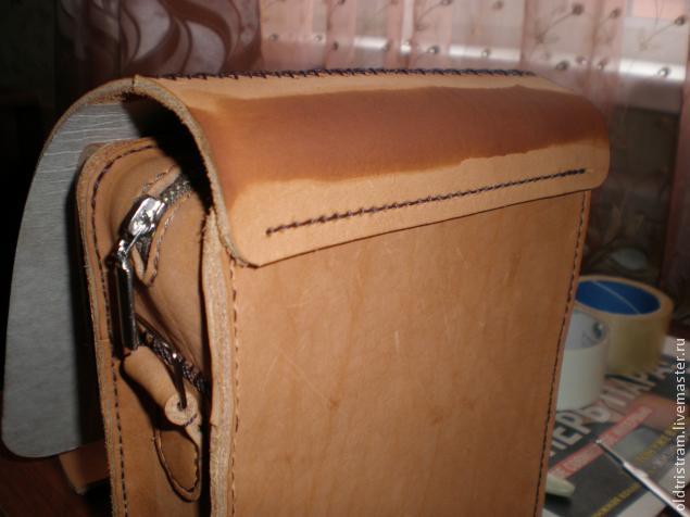 Поясная сумка из кожи своими руками