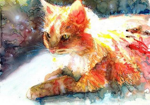 Макияж кошки мастер класс акварель пошагово #13