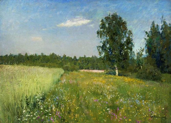 солнечный день, природа на картинах