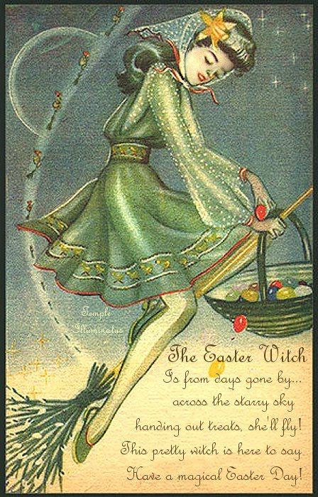 Старинные открытки ведьмы, великой отечественной