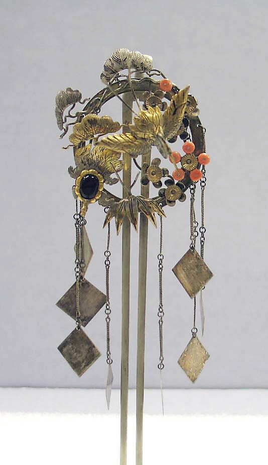 Japan   Hair ornament; silver, and silver gilt   19th century, from the Edo period (1615 - 1868)