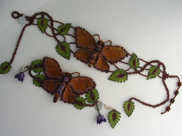 Часть 1. Часть 2. Бабочки из бисера.  Ромашковый комплект.