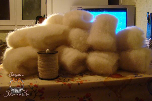 Как прясть кроличью шерсть в домашних условиях