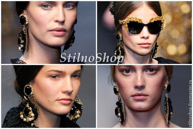 Создаем серьги в стиле Dolce&Gabbana, фото № 1