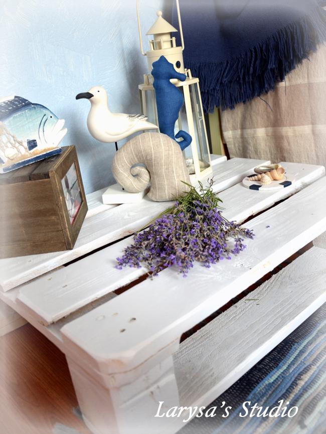 морская тематика, поддон, декор интерьера