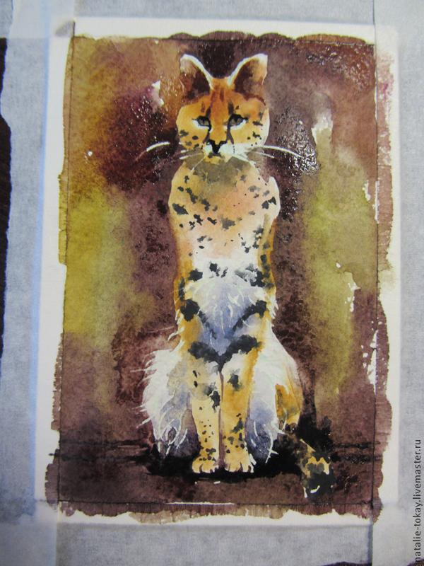 леопард, почтовая карточка