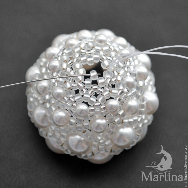 Jellyfish Pendant DIY with Pearls and Swarovski Crystals, фото № 27