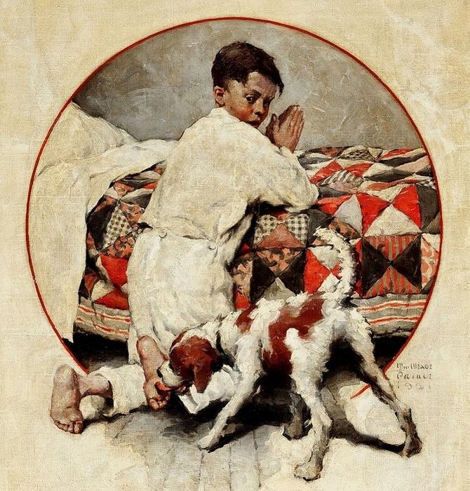 WILLIAM_MEADE_PRINCE_(American,_1893-1951)__Bedtime_Prayers (670x700, 439Kb)