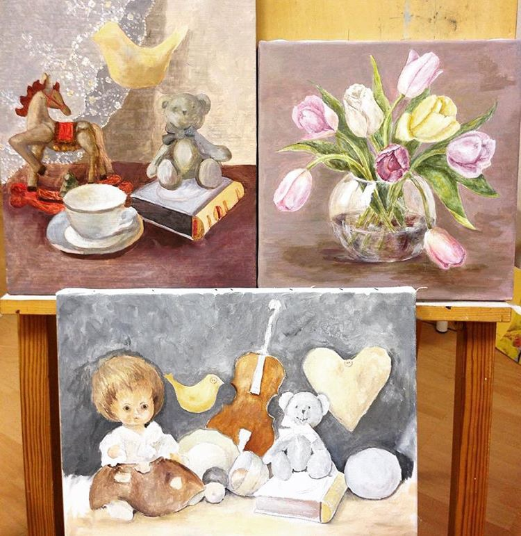 обучение живописи, рисование на мебели