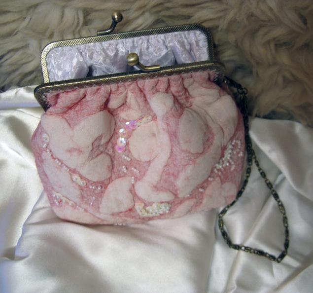 розовый, войлочные сумки