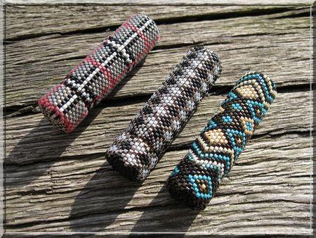 Двойное мозаичное плетение из бисера