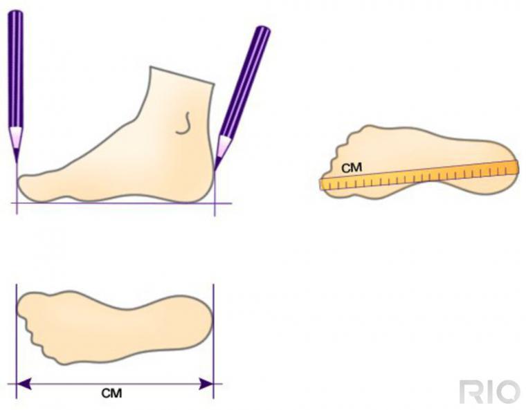 как определить свой размер ноги