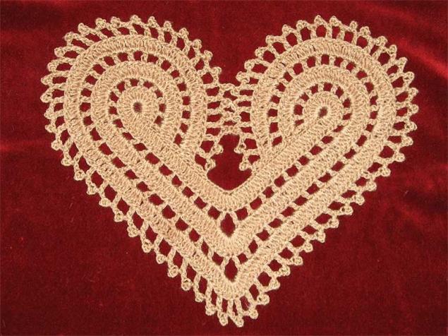 Вязание салфеток сердечки