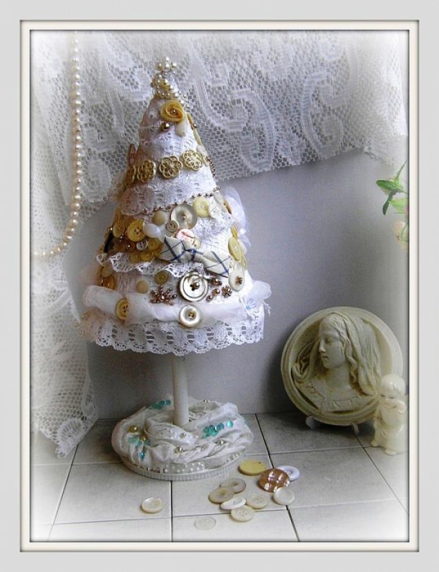 Новогодние елочки: идеи оформления из ткани - Ярмарка Мастеров - ручная работа, handmade
