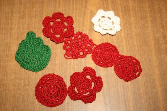 жилет вязаный цветочный