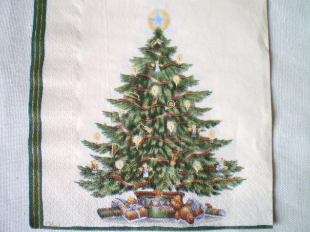 новый год 2014, елка, мишка-тедди, салфетки, декупажные салфетки, салфетка, материалы для творчества, дед мороз, дети