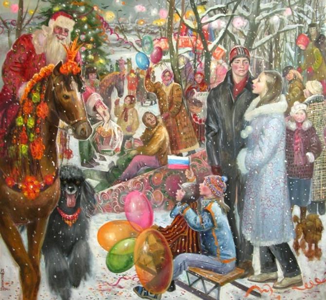 однажды рождественские мотивы в картинах художников честный человек пойду
