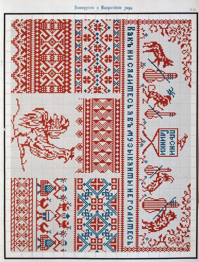 Традиционные орнаменты в вышивке