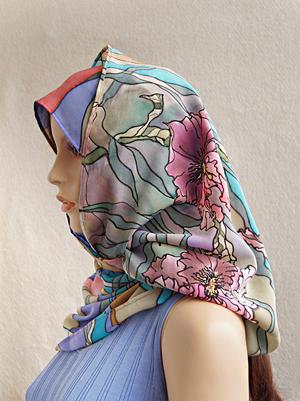снуд батик, как носить шарф-хомут