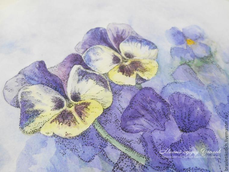 аукцион сегодня, аукцион картина, акварельная живопись, акварели, цветы