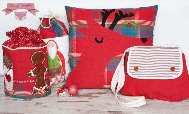 рождество, новогодний декор, сумка, foxy crafts