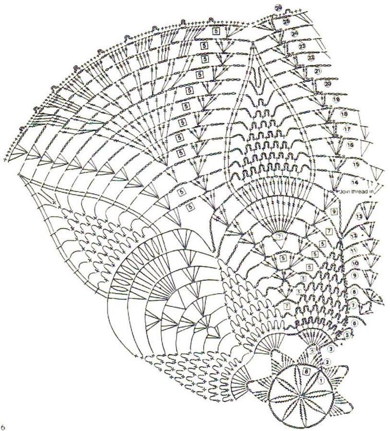 Отличное занятие для выходного дня: 20 схем для вязания салфеток крючком, фото № 14