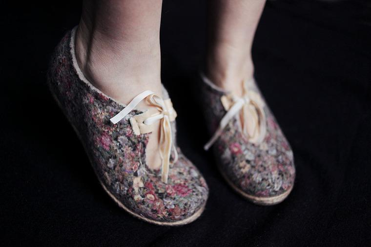 мк по валянию, туфли из войлока