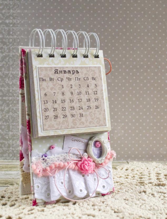 скрапбукинг, скрап, календарь, 2014г, мк, мастер-класс