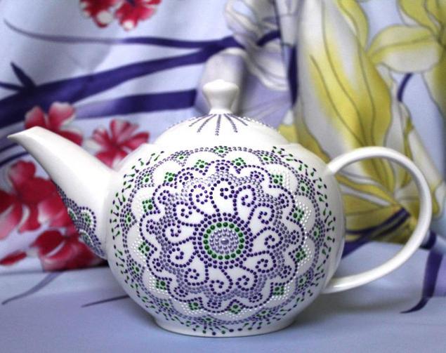 Точечная роспись для чайников