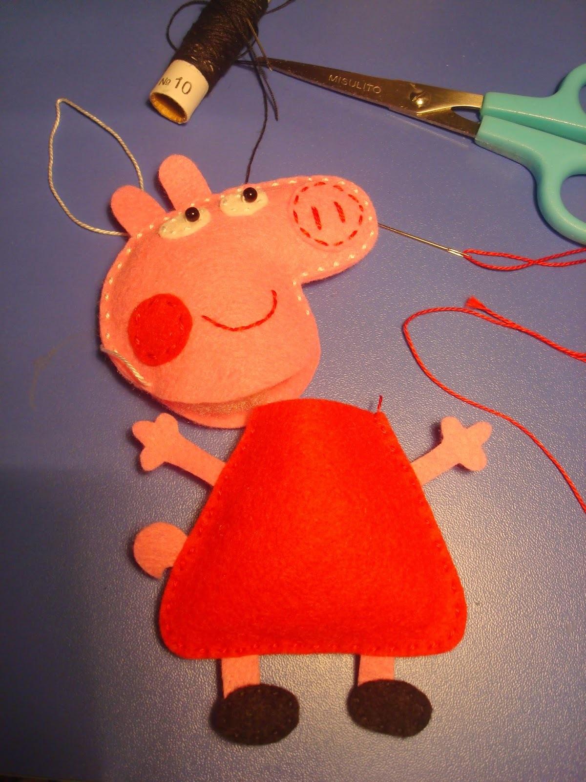 игрушки из фетра своими руками с выкройками свинка пеппа