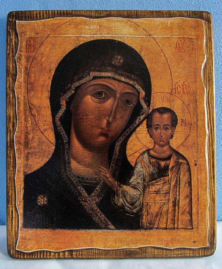 икона, казанская, икона богородицы, история иконы
